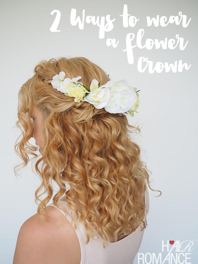 easy flower crown tutorial
