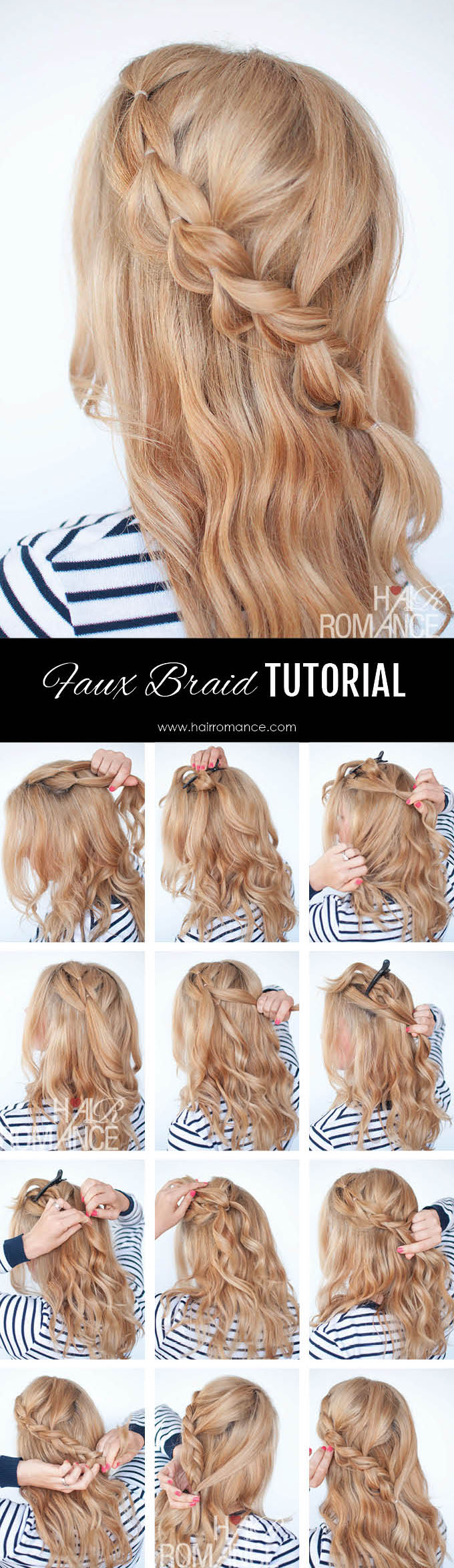 The No Braid Braid 5 Pull Through Braid Tutorials Hair Romance