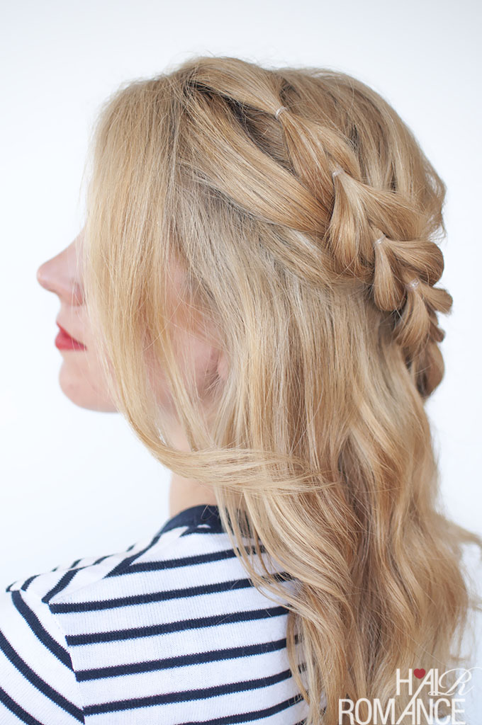 Hair Romance - Pull through braid tutorial 5a