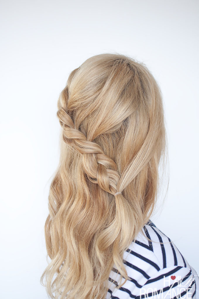 Hair Romance - Pull through braid tutorial 5b