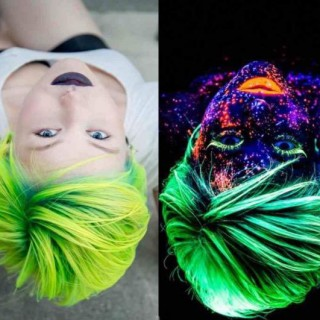 Hair trend – Glow-in-the-dark rainbow hair!
