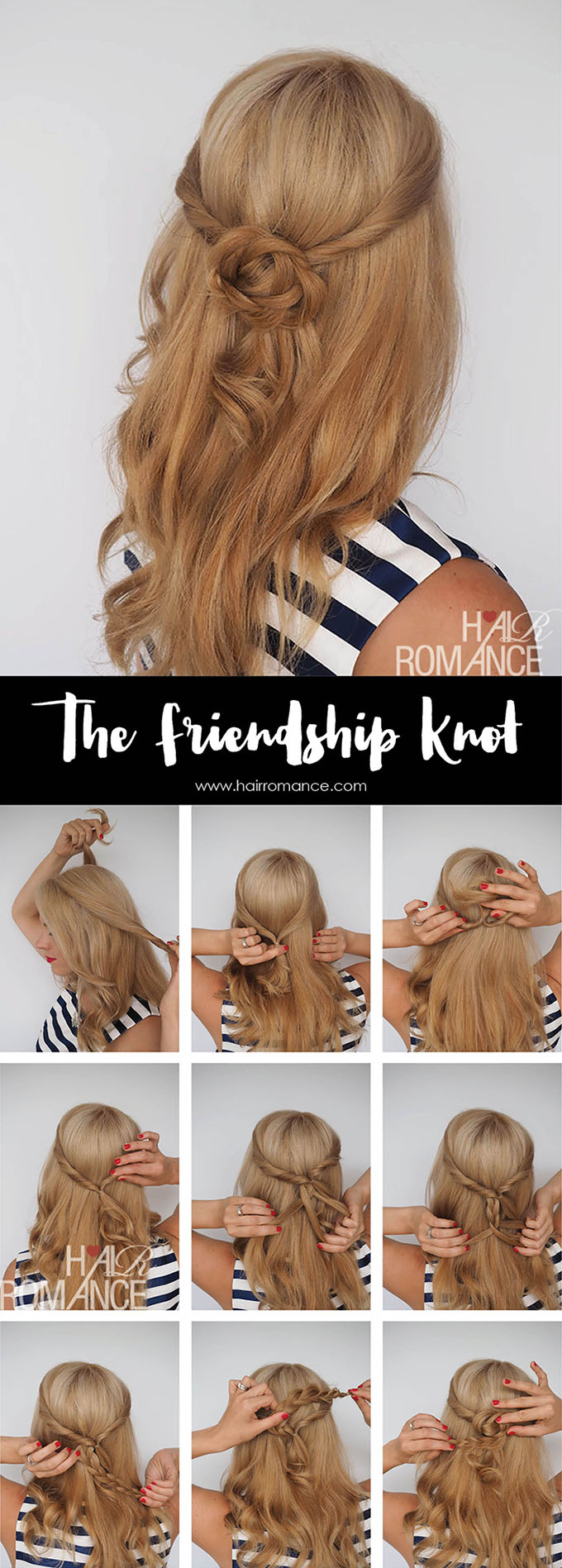 Hair Romance - Friendship Knot hair tutorial