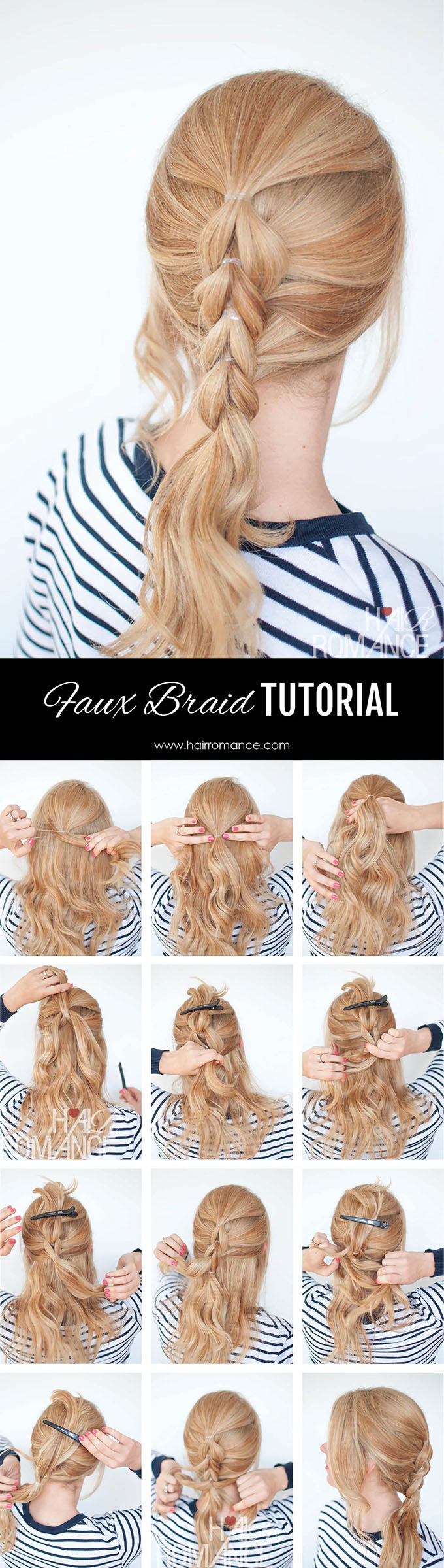 Hair Romance - Pull through braids tutorial 2