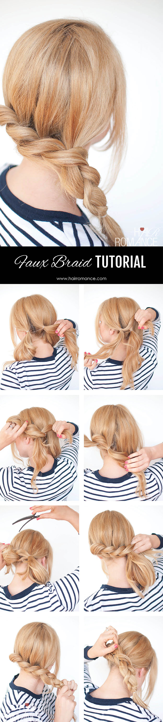 Hair Romance - Pull through braids tutorial 3