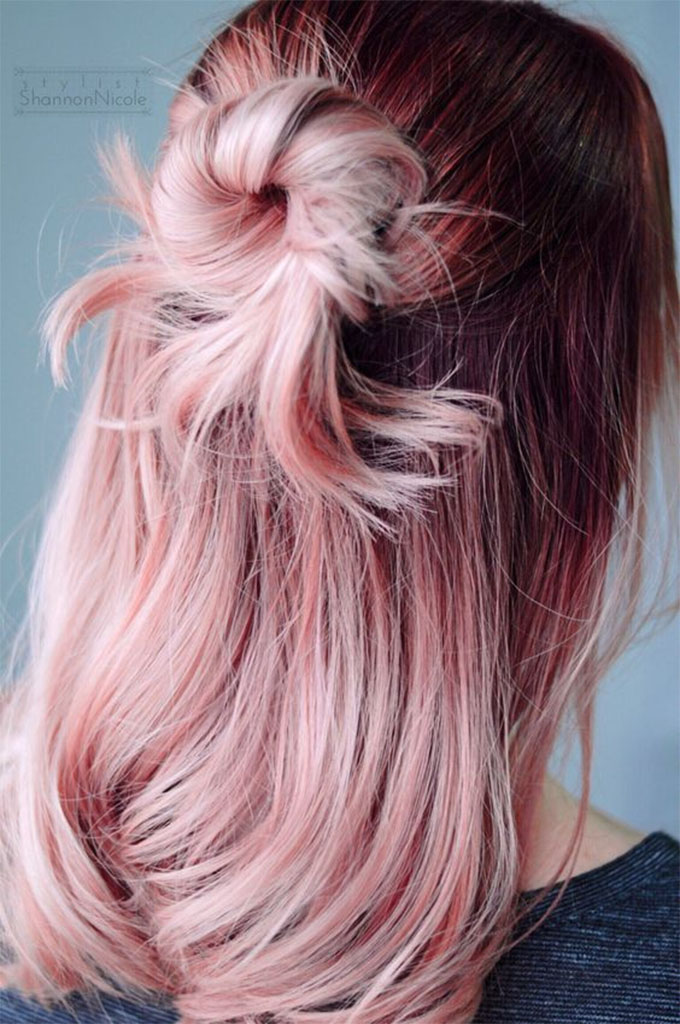 Rose Quartz Hair Pantone Colour