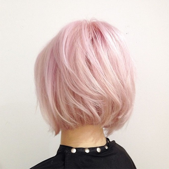 Rose Quartz hair inspiration - pink hair bob