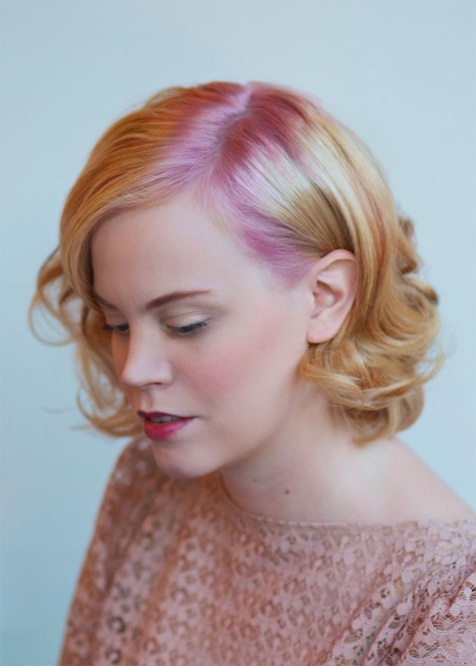 Rose Quartz hair inspiration - rose gold hair