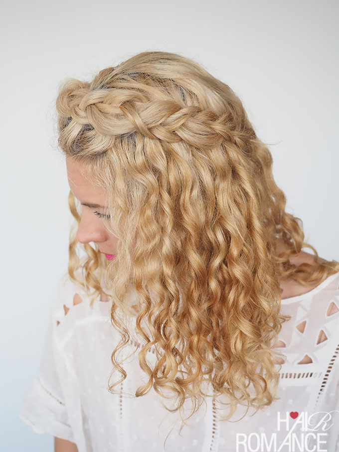 hair day styles 30 curly hairstyles in 30 days day 2 hair 1628