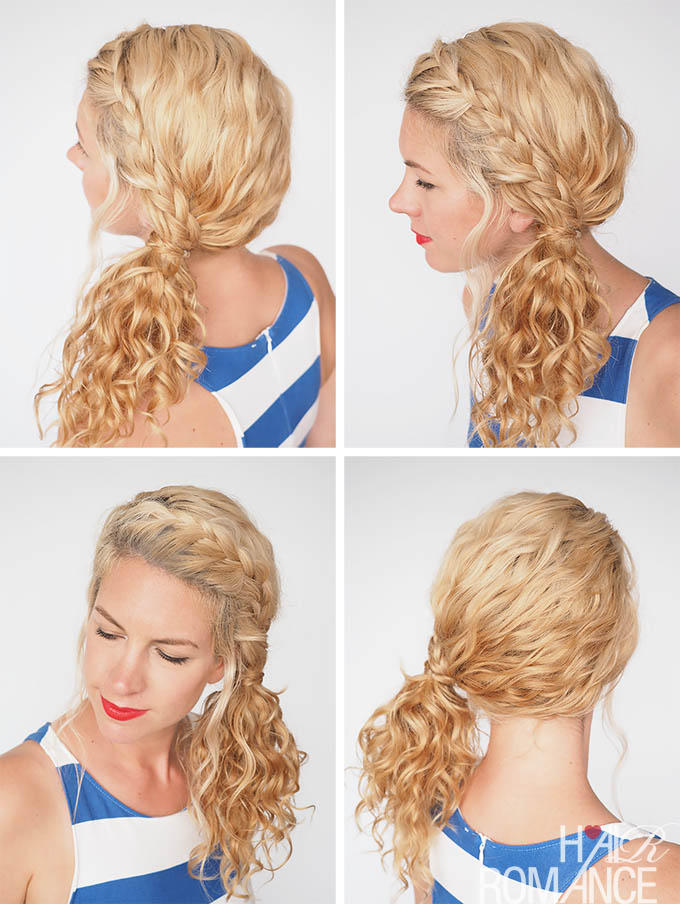 Hair Romance - 30 Curly Hairstyles in 30 Days - Day 3 - curly ponytail