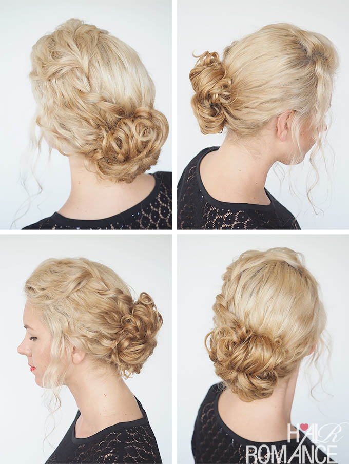 Hair Romance - 30 Curly Hairstyles in 30 Days - Day 11 - the curly braid bun