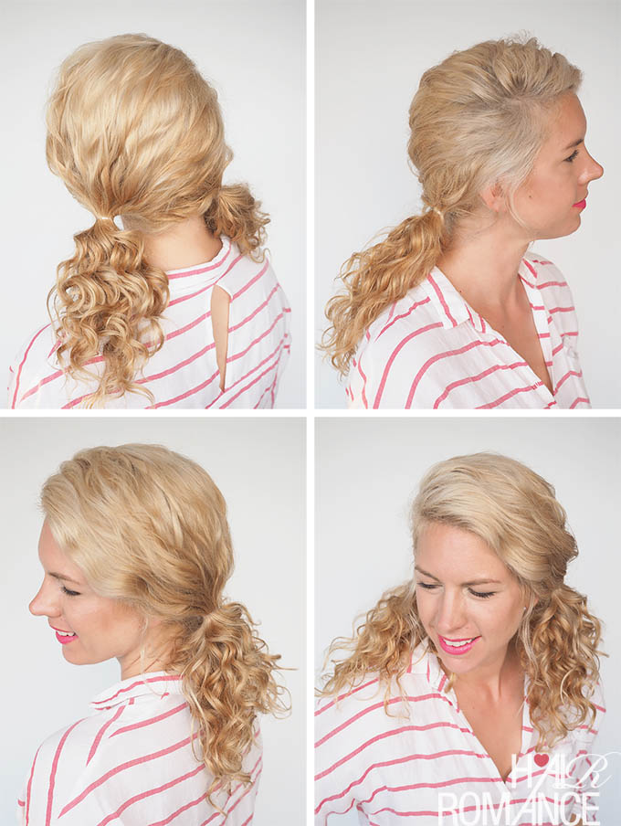 Hair Romance - 30 Curly Hairstyles in 30 Days - Day 14 - Curly Pigtails