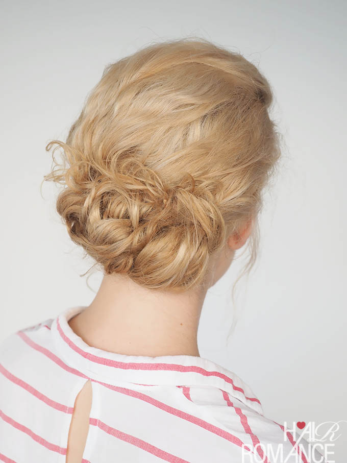 Hair Romance - 30 Curly Hairstyles in 30 Days - Day 14 - Curly Knot updo