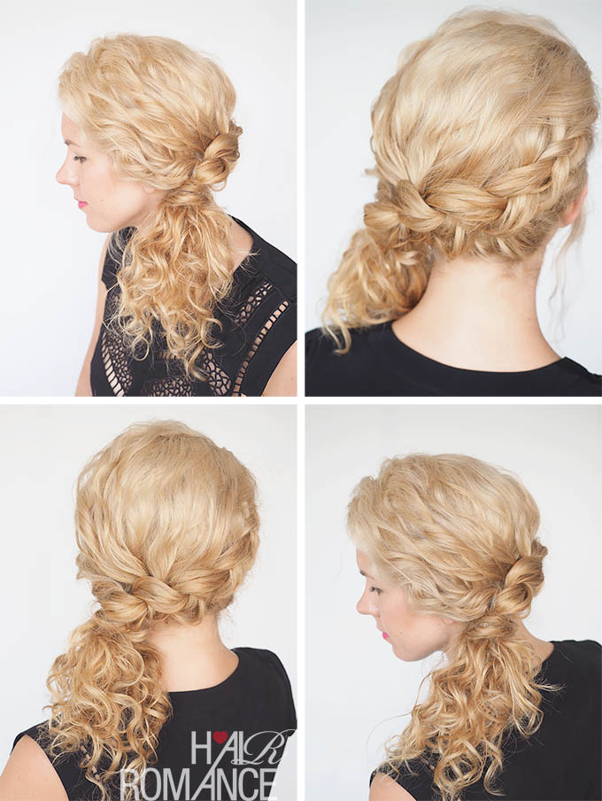 Hair Romance - 30 Curly Hairstyles in 30 Days - Day 16 - The side braid ponytail