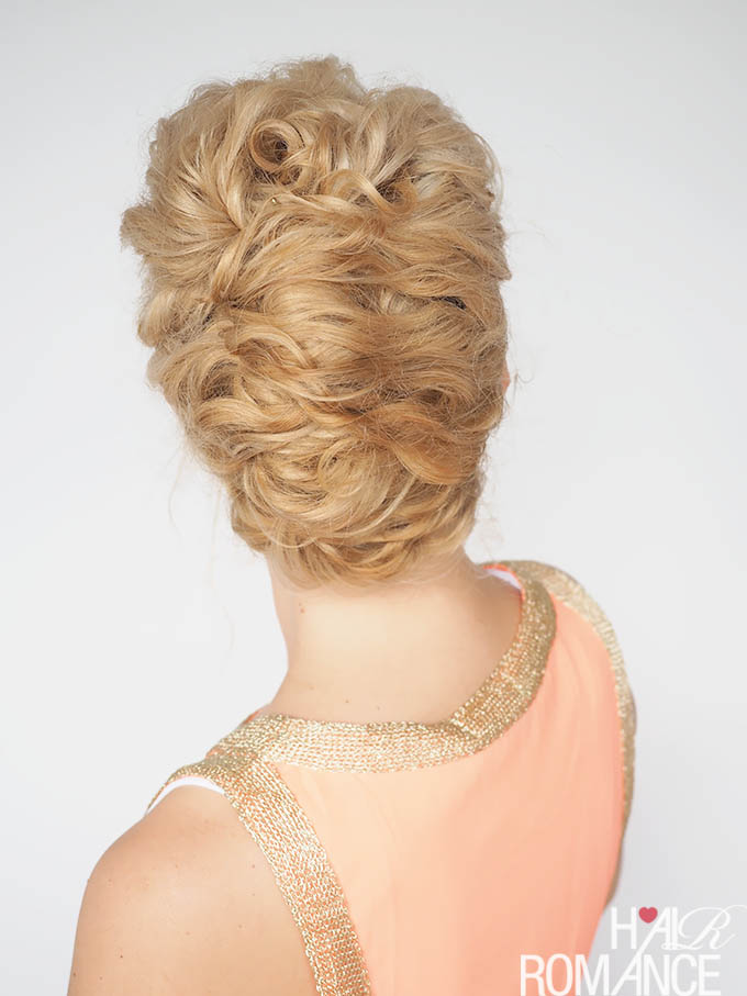 Hair Romance - 30 Curly Hairstyles in 30 Days - Day 19 - The curly twist updo