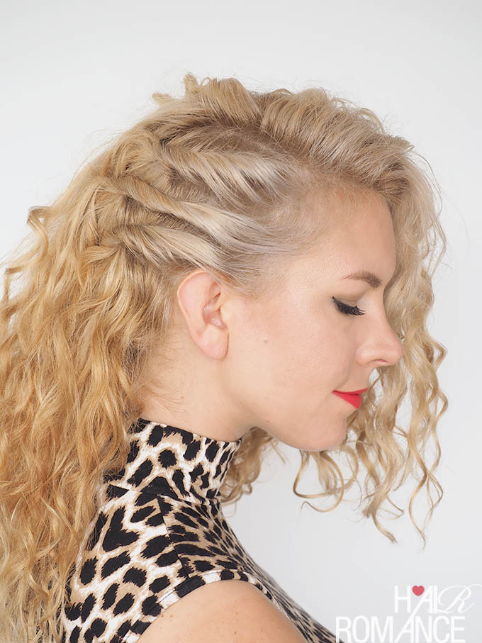 Hair Romance - 30 Curly Hairstyles in 30 Days - Day 20 - The triple twist back