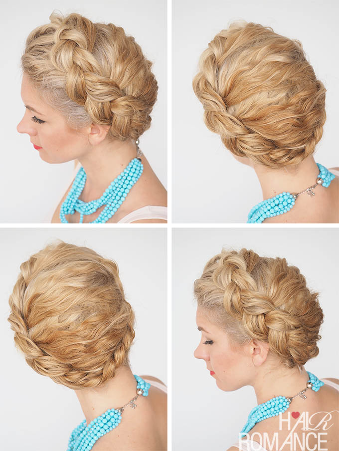 Hair Romance - 30 Curly Hairstyles in 30 Days - Day 21 - The Dutch ring braid
