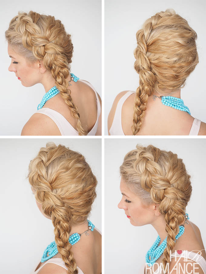 Hair Romance - 30 Curly Hairstyles in 30 Days - Day 21 - The Dutch side braid