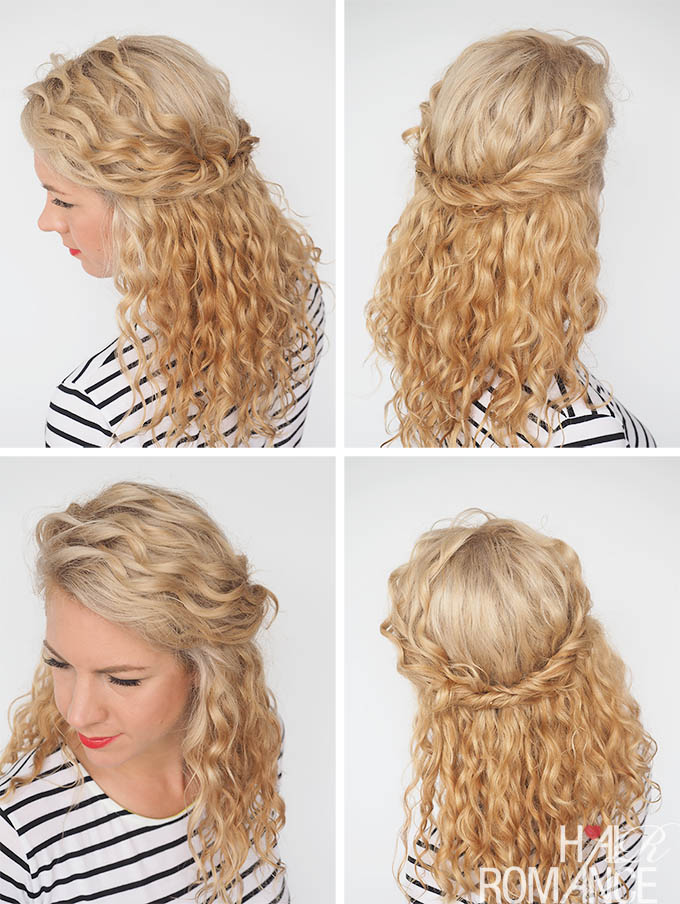 Hair Romance - 30 Curly Hairstyles in 30 Days - Day 22 - Half twist back