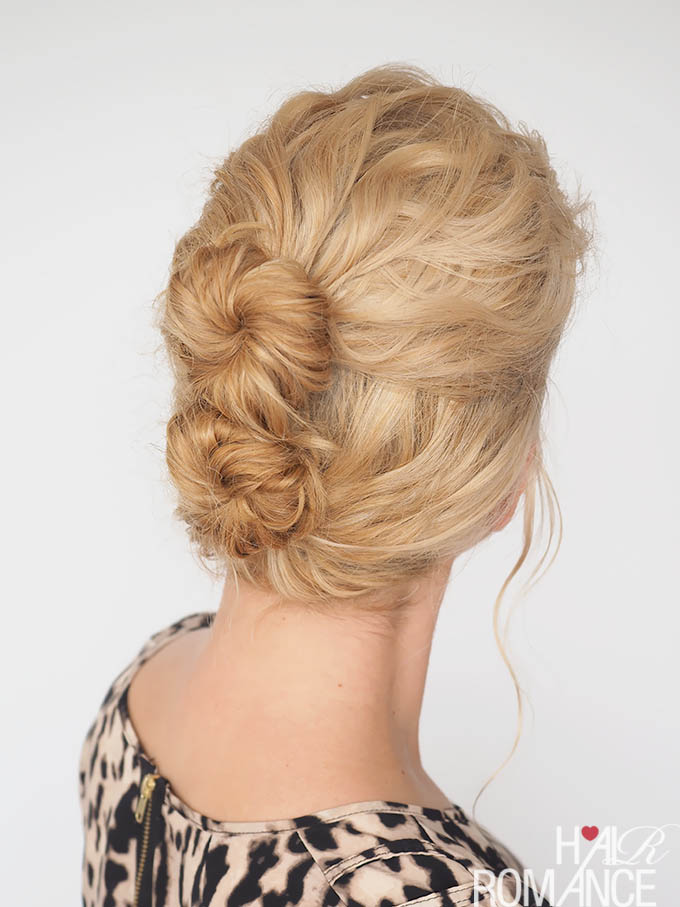 Hair Romance - 30 Curly Hairstyles in 30 Days - Day 24 - Double Bun