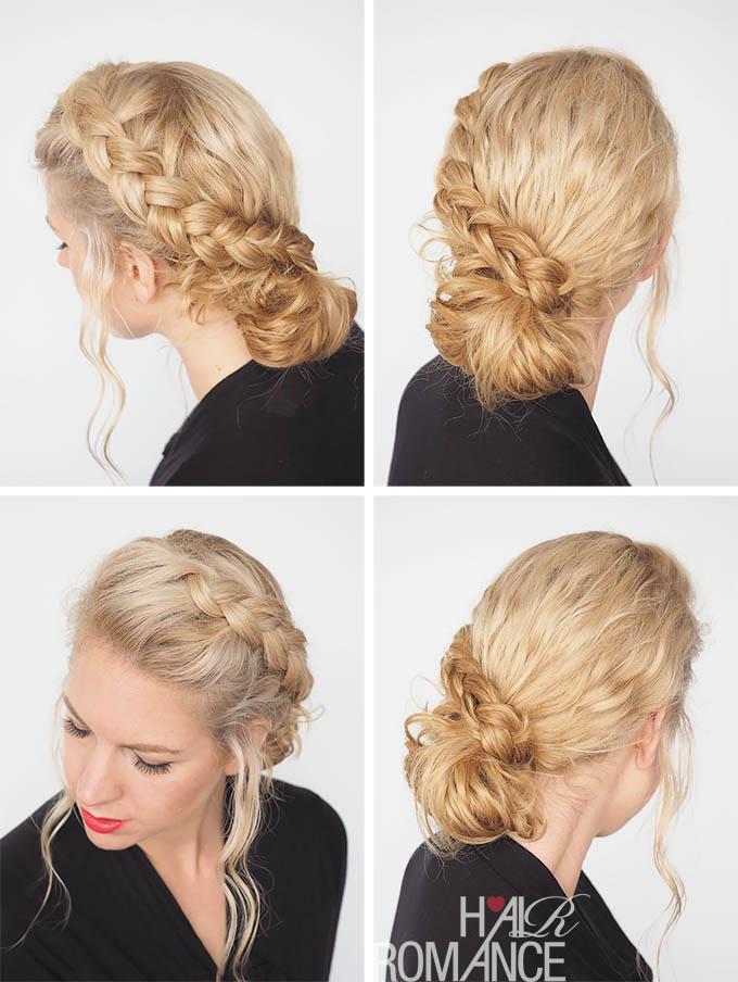 Hair Romance - 30 Curly Hairstyles in 30 Days - Day 25 - The Braid Wrap Bun