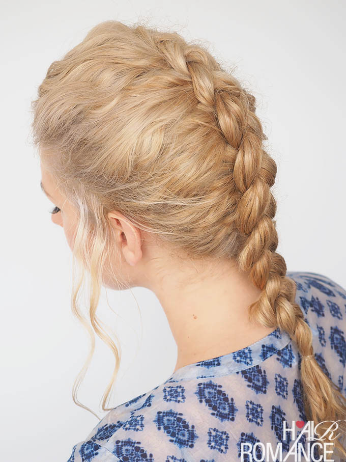 Hair Romance - 30 Curly Hairstyles in 30 Days - Day 28 - Part 1 - The Dutch Braid