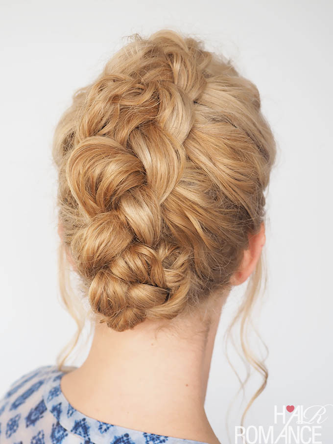Hair Romance - 30 Curly Hairstyles in 30 Days - Day 28 - Part 2 - The Dutch Braid updo