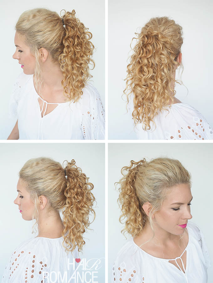 Hair Romance - 30 Curly Hairstyles in 30 Days - Day 29 - The trick curly ponytail