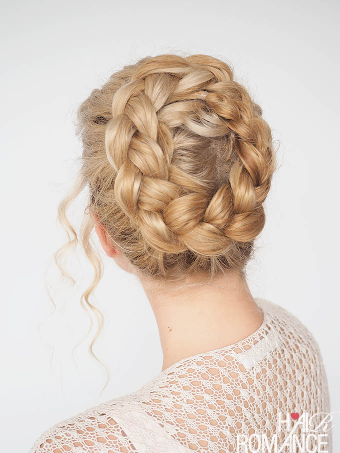 Hair Romance - 30 Curly Hairstyles in 30 Days - Day 30 - High crown braid