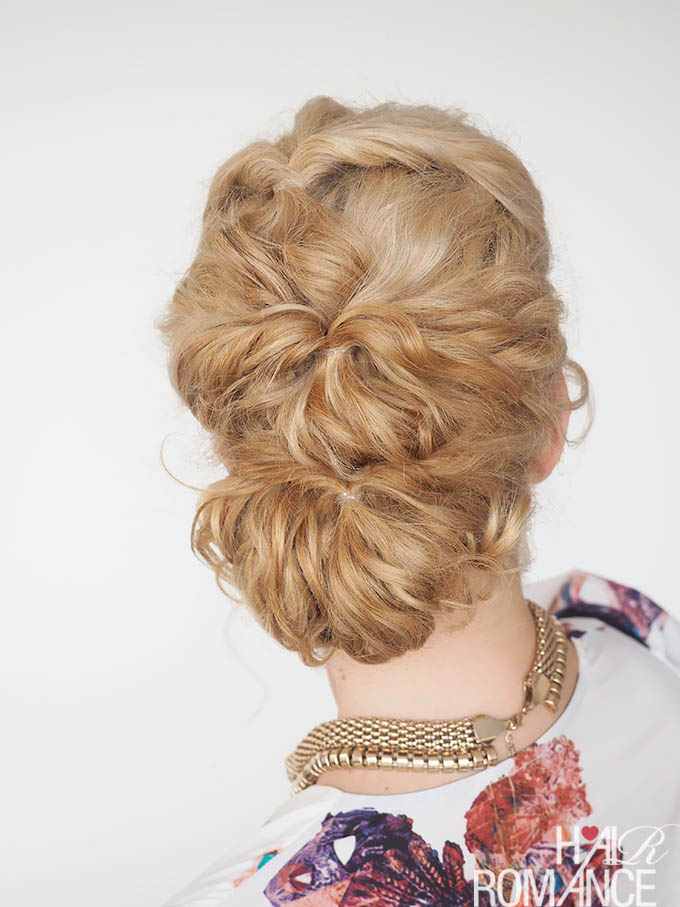 Hair Romance - 30 Curly Hairstyles in 30 Days - Day 7 - the topsy twist bun