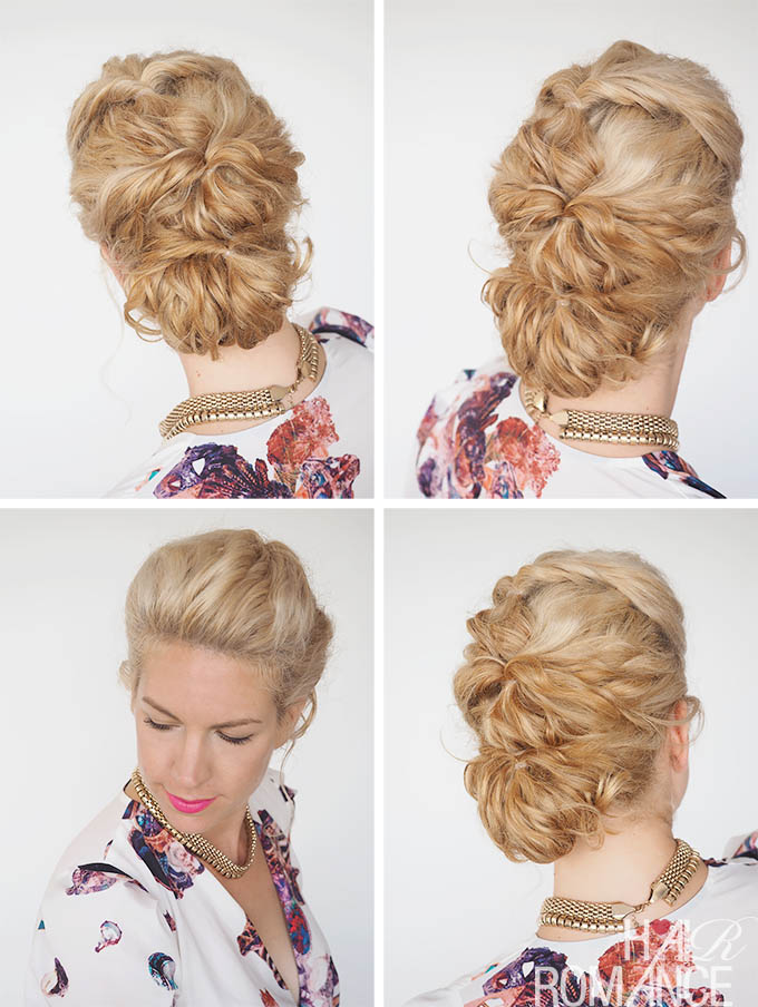 Hair Romance - 30 Curly Hairstyles in 30 Days - Day 7 - topsy twist bun