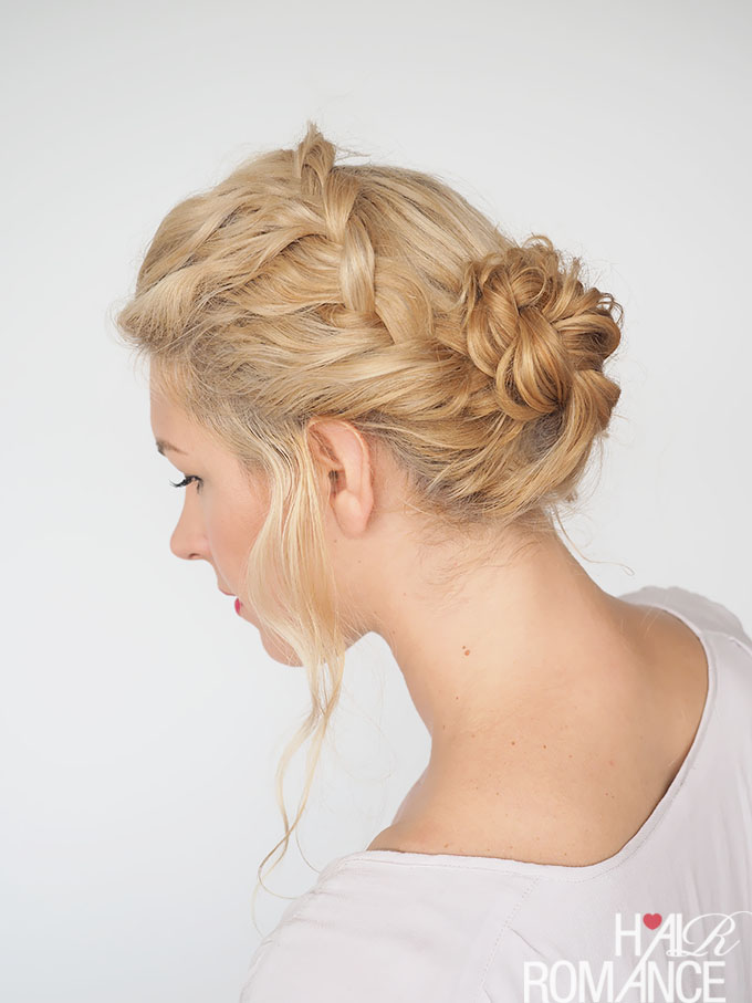 Hair Romance - 30 Curly Hairstyles in 30 Days - Day 9 - combo braids