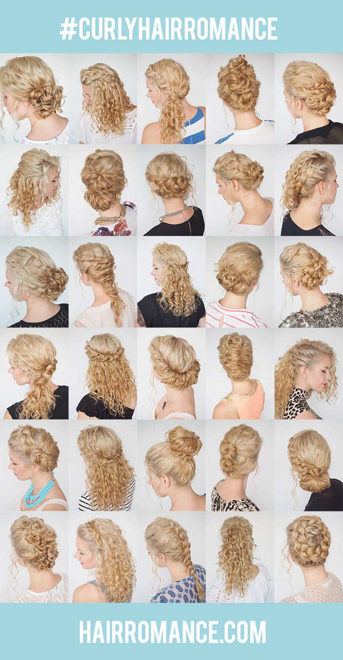 30 Days Of Curly Hairstyles Hair Romance