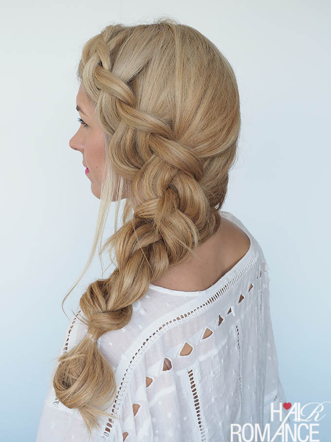 Hair Romance - How to style a big side braid hairstyle tutorial