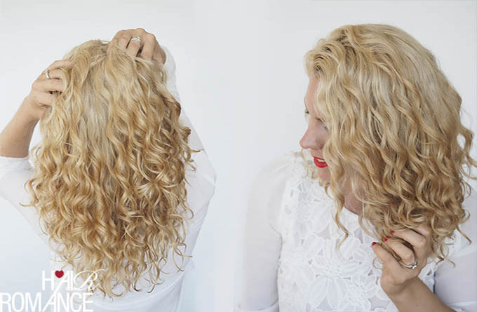 Hair Romance - How to style curly hair video tutorial