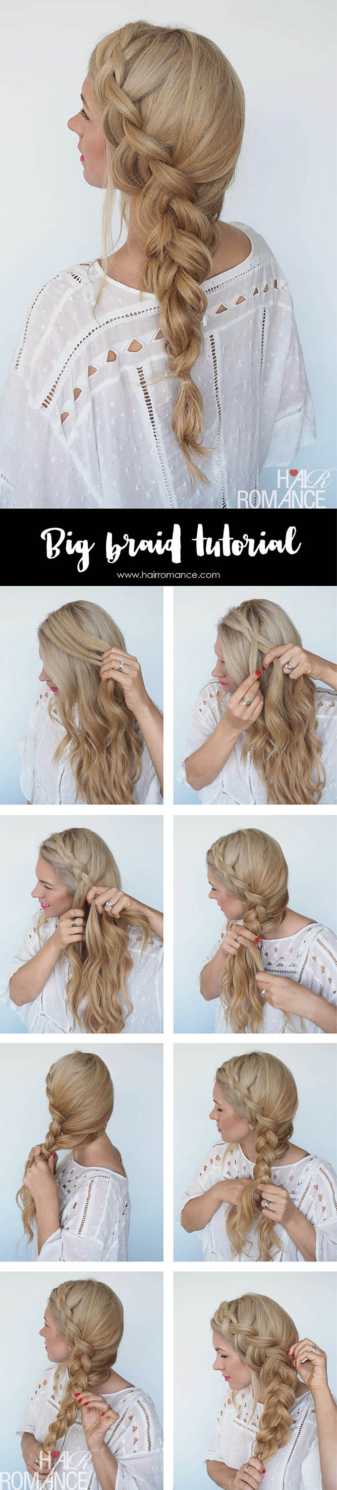 How To Style A Big Side Braid Instant Mermaid Hair Hair Romance