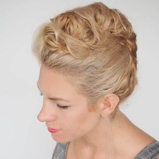 Curly hair tutorial – easy curly twist updo