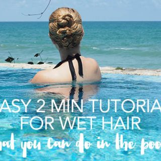 2 min easy hairstyle tutorial for wet hair