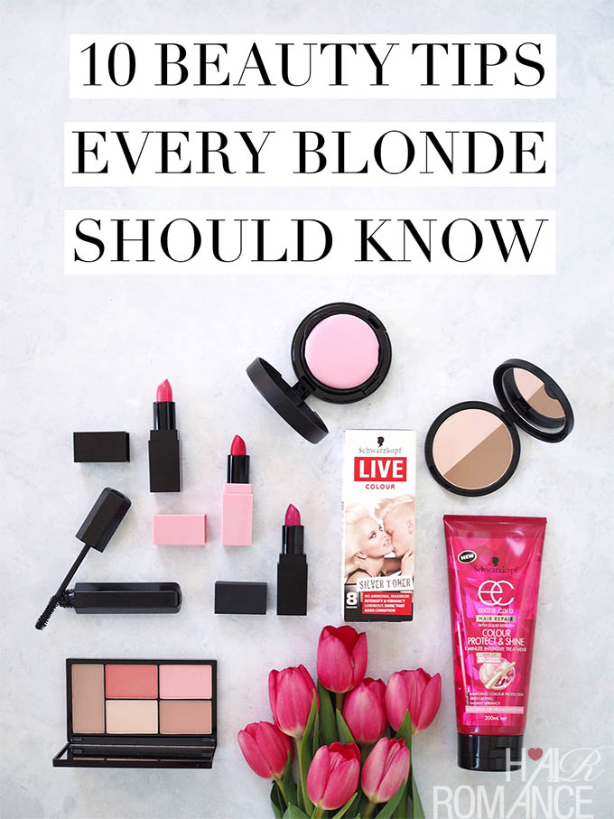 Hair Romance - 10 beauty tips every blonde should know