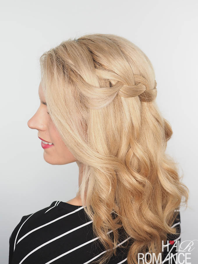 Hair Romance - waterfall braid tutorial video plus dry hair tips