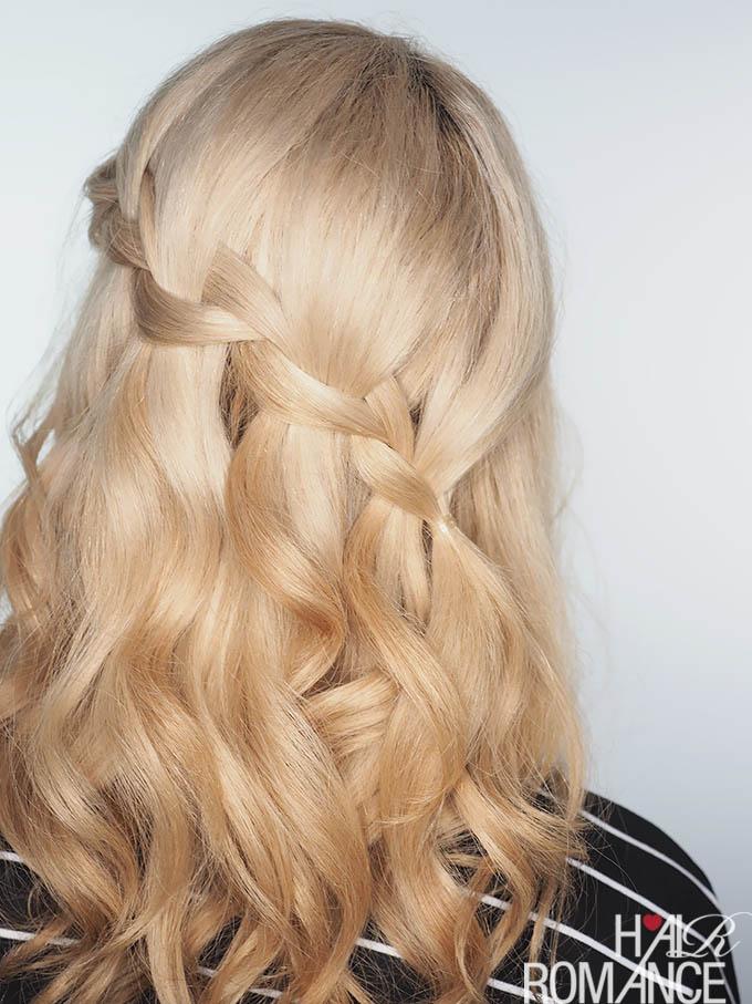 Hair Romance - waterfall braid tutorial video plus dry hair tips