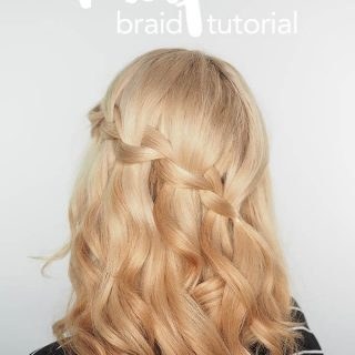 Waterfall braid tutorial video + the fix for dry, damaged hair