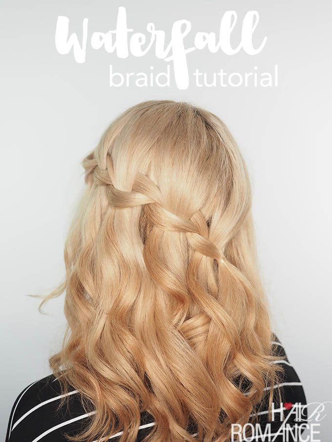 Waterfall Braid Tutorial Video The Fix For Dry Damaged Hair