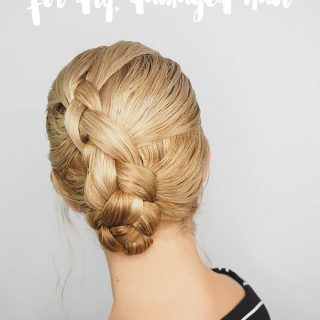 2 min easy braid tutorial for wet hair (video)