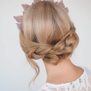 How to Wear a Headpiece and a Braid Tutorial