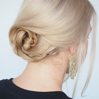 Quick and easy braided updo tutorial for beginners