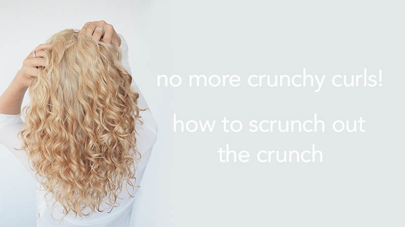 Curly Hair Tips How To Scrunch Out The Crunch Sotc Hair Romance