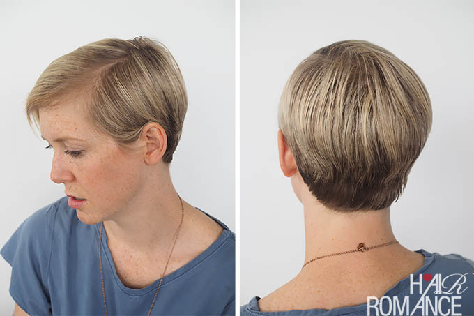 Hair Romance - 3 quick and easy ways to style short hair - sleek chic