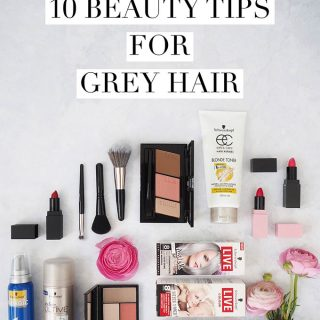 10 beauty tips for grey hair