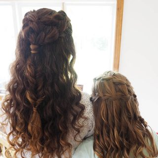 Real wedding hair inspiration – curly hair bride