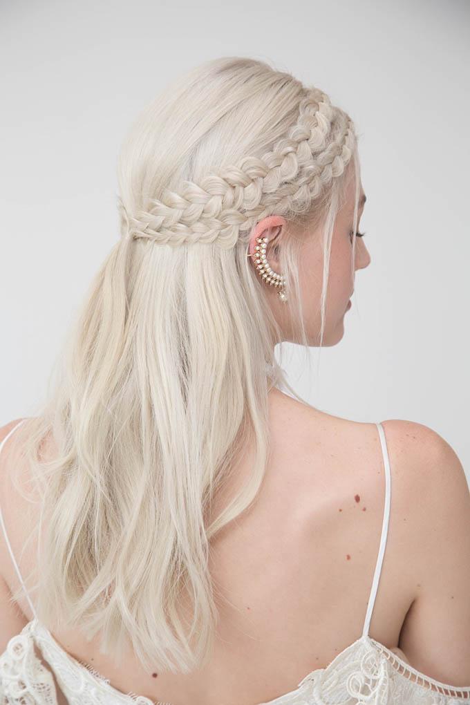 Wedding Hairstyles Braids And Ponytails Hair Romance